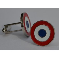 French Airforce Roundel Cocarde Trocolore Enamel Cufflinks