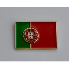 Portugal Flag Gold Plated Enamel Pin Badge