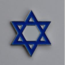 Star of David Enamel Pin Badge