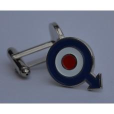Quadrophenia RAF Roundel with Arrow Enamel Cufflinks