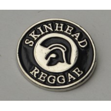Black Trojan Skinhead Reggae Pin Badge