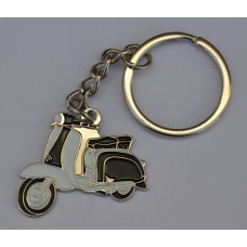 Black and White Lambretta Scooter Keyring