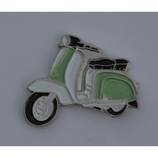Pale Green and White Lambretta Pin Badge