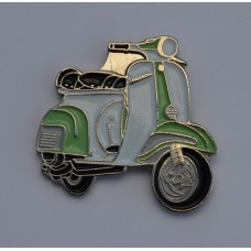 Pale Green and White Vespa Pin Badge