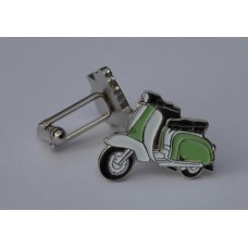 Pale Green and White Lambretta Cufflinks