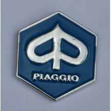 Blue Piaggio Hexagon Enamel Pin Badge