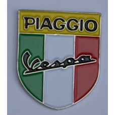 Piaggio Vespa Italian Shield Enamel Pin Badge
