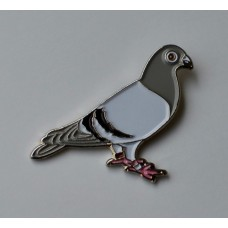 Racing Pigeon Enamel Pin Badge