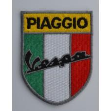 Vespa Piaggio Italian Shield Embroidered Patch