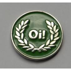 Red Oi Skinhead Pin Badge