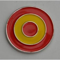 Spanish Roundel Mod Target Pin Badge