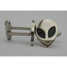 Roswell Alien Head Cufflinks
