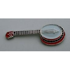 Banjo Enamel Pin Badge