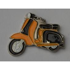 Black and Gold Lambretta Scooter Pin Badge