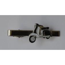 Black and White Lambretta Tie-Pin