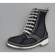 Black DM Style Boot Pin Badge