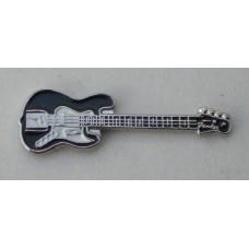 Black Fender Electric Guitar Pin Badge