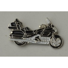 Black Goldwing Touring Motorcycle Pin Badge