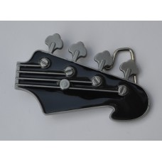 Black Guitar Head Enamel Buckle