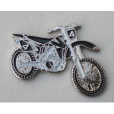 Black Trials Motorcycle Pin Badge