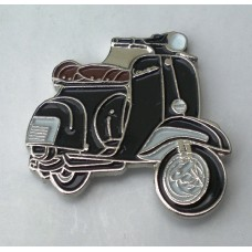 Black Vespa Pin Badge