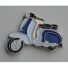 Blue and White Lambretta Pin Badge