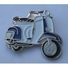Blue and White Vespa Pin Badge