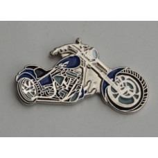 Blue Chopper Pin Badge