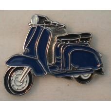 Blue Lambretta Pin Badge