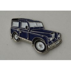 Blue Landrover Pin Badge