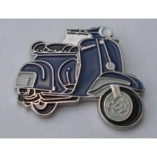 Blue Vespa Scooter Pin Badge