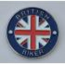 British Biker Quality Enamel Pin Badge