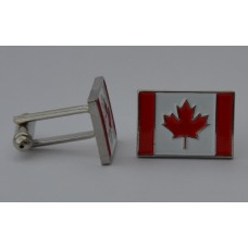 Canadian Flag Quality Enamel Cufflinks