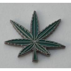 Cannabis Leaf Pin Badge