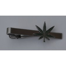 Cannabis Leaf Tie-Pin