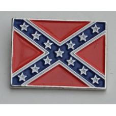 Confederate Rockabilly Flag Pin Badge