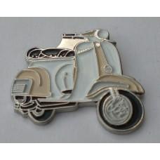 Cream and White Vespa Pin Badge