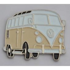 Cream Split-Screen Campervan Quality Enamel Pin Badge
