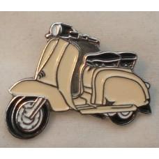 Cream Lambretta Pin Badge