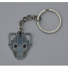 Doctor Who Style Whovian Cyberman Mask Keyring
