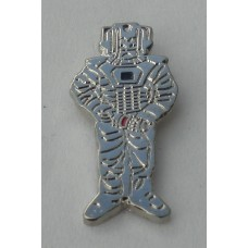 Doctor Who Style Whovian Cyberman Pin Badge