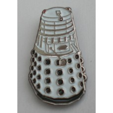 Doctor Who Style Whovian White Dalek Pin Badge