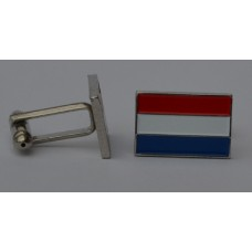 Dutch Flag Netherlands Quality Enamel Cufflinks