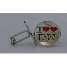 Doctor Who Style Whovian Two Hearts Cufflinks