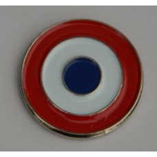 French AirForce Roundel Enamel Pin Badge