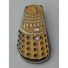 Doctor Who Style Whovian Gold Dalek Pin Badge