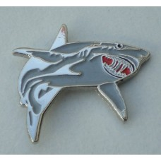 Great White Shark Pin Badge