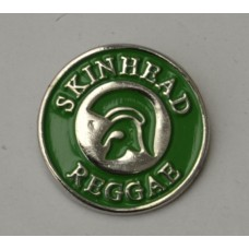 Green Trojan Skinhead Reggae Pin Badge