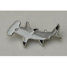 Hammerhead Shark Pin Badge