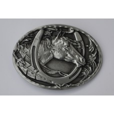 Horses Head and Shoe Buckle